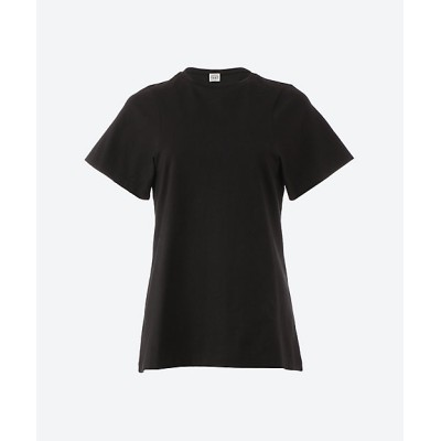 <toteme(Women)/トーテム> CURVED SEAM TEE BLACK【三越伊勢丹/公式】