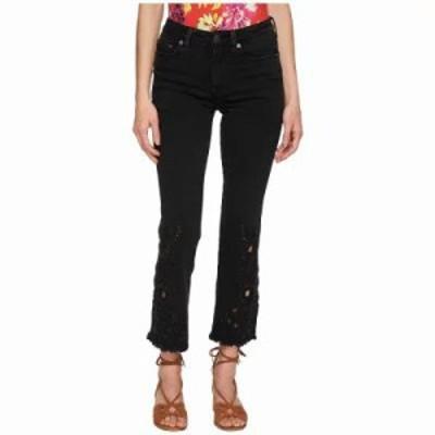 フリーピープル ジーンズ・デニム Cutwork Cigarette Jeans - Black Black
