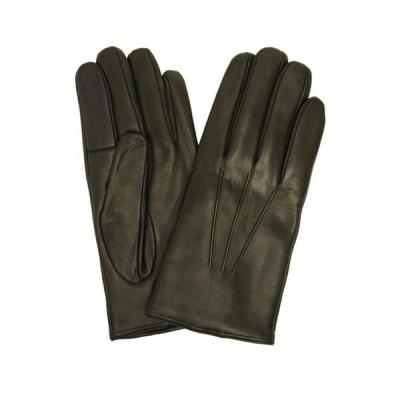 [キャロンセレクト] CarronSelect レザーグローブ イタリア製 メンズ スマートフォン対応 革手袋 カシミヤライニング (M
