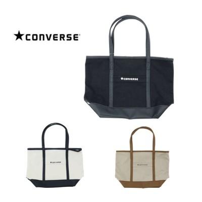 CONVERSE コンバース トートバッグ キャンバス×フェイクレザー メンズ レディース バッグ Sサイズトート 鞄