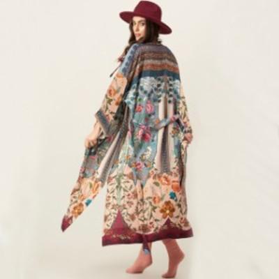 浴衣 レディース 羽織 和風 和柄 浴衣 モダン 甚平 長袖 羽織り レディース 大きいサイズ ざっくり オーバーサイズ 普段着回し はおり 踊