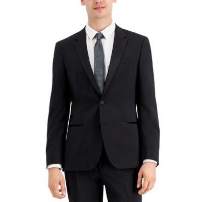 フューゴ メンズ ジャケット・ブルゾン アウター HUGO Men's Regular-Fit Black Tuxedo Jacket