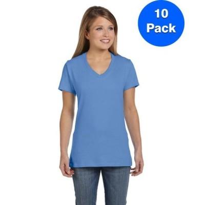 レディース 衣類 トップス Womens Nano-T V-Neck T-Shirt S04V (5 PACK) Tシャツ