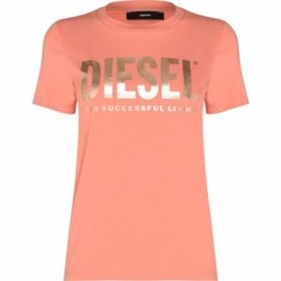 ディーゼル Diesel レディース Tシャツ ロゴTシャツ トップス Logo T Shirt BB Orange