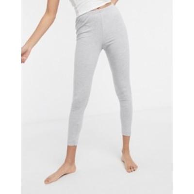 エイソス レディース カジュアルパンツ ボトムス ASOS DESIGN mix & match jersey pyjama legging in gray marl Gray