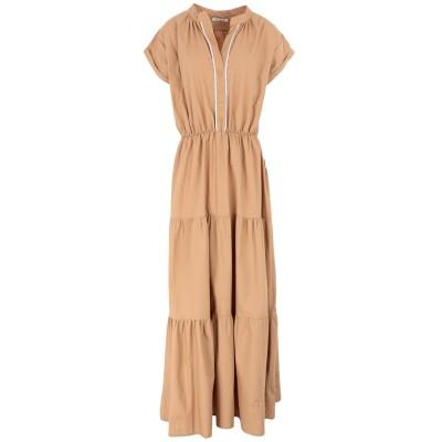 ELEH ロングワンピース&ドレス キャメル L コットン 100% ロングワンピース&ドレス