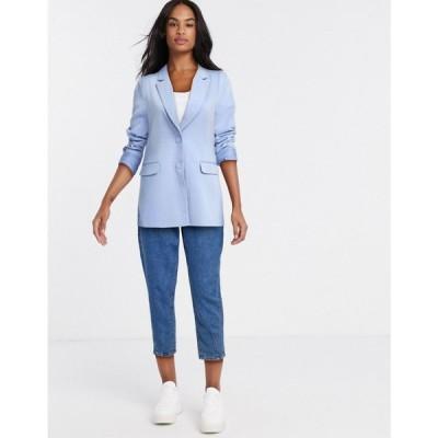 ピンキー Pimkie レディース スーツ・ジャケット アウター oversized blazer in blue ブルー