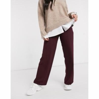 エイソス ASOS DESIGN レディース ボトムス・パンツ ワイドパンツ Wide Leg Trousers With Clean High Waist In Claret ワインレッド