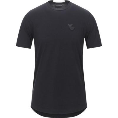 アルマーニ EMPORIO ARMANI メンズ Tシャツ トップス T-Shirt Black