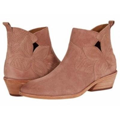 Frye フライ レディース 女性用 シューズ 靴 ブーツ アンクル ショートブーツ Farrah Floral Bootie Light Rose Oiled Suede【送料無料】