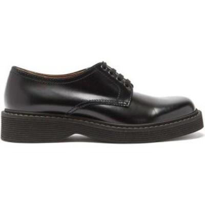マルニ Marni メンズ 革靴・ビジネスシューズ ダービーシューズ シューズ・靴 Ridged-sole leather derby shoes Black
