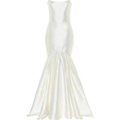 ロサリオ RASARIO レディース パーティードレス ワンピース・ドレス Satin gown White