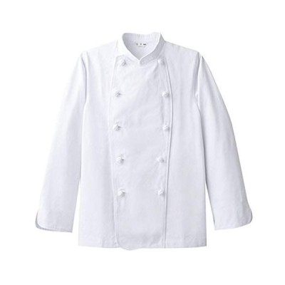 arbe(アルベ)コックコート ct-CA-114 厨房服 綿100% カツラギ素材 レストラン 飲食店 男女兼用 ホワイト LL