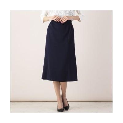 MISSEL/ミゼール フクレニット6枚接ぎスカート【セットアップ対応可】 ダークブルー L