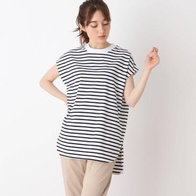シューラルー SHOO-LA-RUE 【追加生産】USAコットンラウンドヘムTシャツ (ブラック)