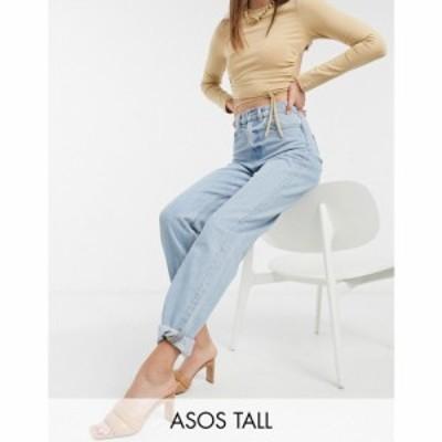 エイソス ASOS Tall レディース ジーンズ・デニム ボトムス・パンツ Asos Design Tall Recycled High Rise Slouchy Mom Jeans ライトウォ