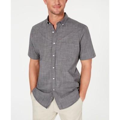 クラブルーム メンズ シャツ トップス Men's Texture Check Stretch Cotton Shirt
