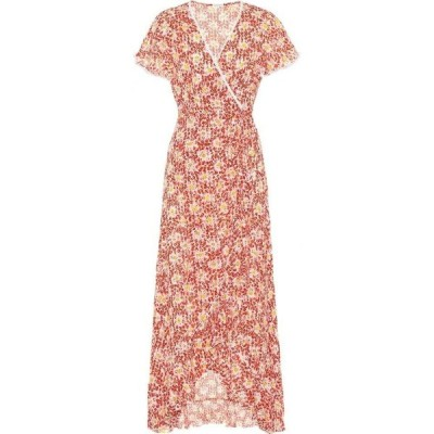プーペット セント バース Poupette St Barth レディース ワンピース ラップドレス ワンピース・ドレス joe floral wrap dress Red Circle