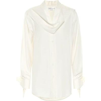 ヴィクトリア ベッカム Victoria Beckham レディース ブラウス・シャツ トップス Silk-Poplin Blouse Off White
