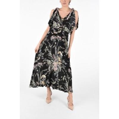 RED VALENTINO/レッド ヴァレンティノ Black レディース Floral Silk Cut Out Shoulder Maxi Dress dk