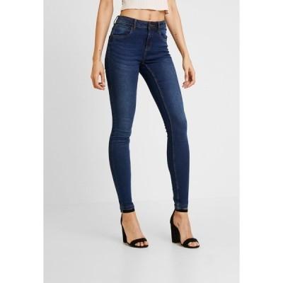 ノイジーメイ デニムパンツ レディース ボトムス NMJEN SHAPER - Jeans Skinny Fit - dark blue denim