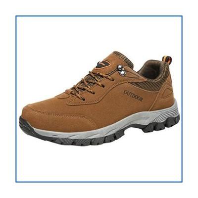 <新品>VonVonCo Outdoor Men Shoes Sneakers Outdoor Sports Athletics Shoes Walking Summer Mesh Casual Hiking Shoes Brown 7<並行輸