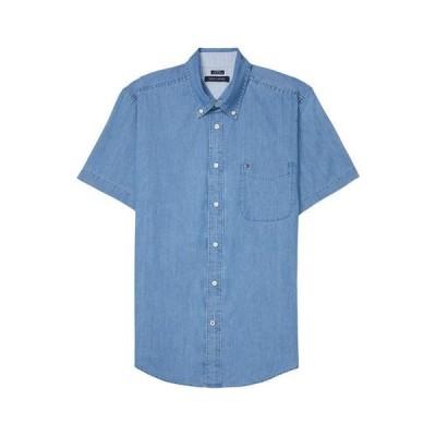 トミー ヒルフィガー メンズ シャツ トップス Magnetic Button Shirt Short Sleeve Custom Fit