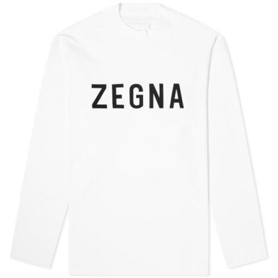 フィア オブ ゴッド Fear of God x Zegna メンズ 長袖Tシャツ ロゴTシャツ トップス oversized long sleeve logo tee Plaster