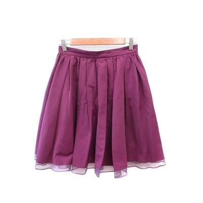 【中古】ジルスチュアート JILL STUART フレアスカート ひざ丈 切替 2 紫 パープル /AU レディース 【ベクトル 古着】