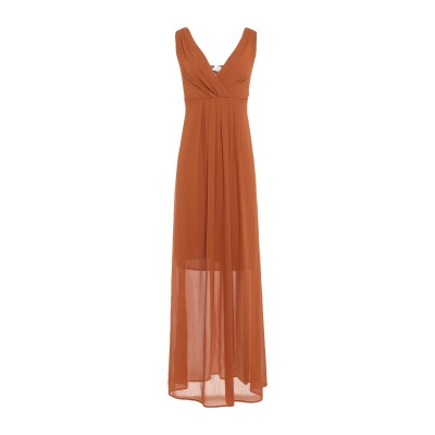 ベルナ BERNA ロングワンピース&ドレス ブラウン XS ポリエステル 100% ロングワンピース&ドレス
