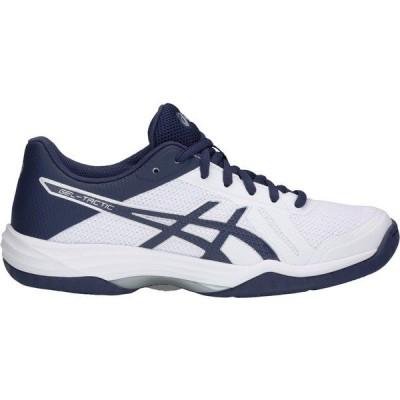 アシックス シューズ レディース バレーボール ASICS Women's Gel-Tactic 2 Volleyball Shoes White/Blue