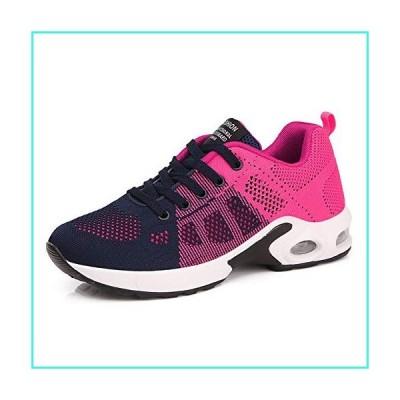 【新品】AIRAVATA Sports Running Shoes Women Comfortable Lightweight Breathable Air Cushion Trainers Rose 6.5 US(並行輸入品)