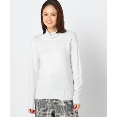 【ミューズ リファインド クローズ】 洗えるモチモチタートルニット レディース ライト グレー L MEW'S REFINED CLOTHES