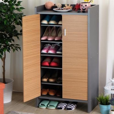 EASY HOME高台置物鞋櫃收納21雙鞋(60x32.3x118cm)-DIY