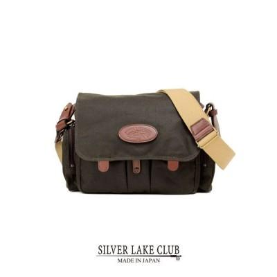 SILVER LAKE CLUB ショルダーバッグ 29cm (ワックスドコットン) ≪旅行 鞄 プレゼント ギフト 男性 誕生日 彼氏≫
