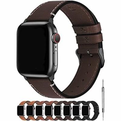 Fullmosa Apple Watch 6/5/4/SE 対応バンド 40mm 革,全8色 アップルウォッチ4専用 バンド ベルト 40mm 44mm Apple ウォッチ4 バンド ベル