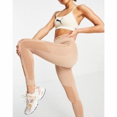 プーマ Puma レディース ジョガーパンツ ボトムス・パンツ Training Evoknit seamless leggings in mocha モカ