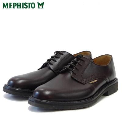 メフィスト MEPHISTO MARLON(マーロン)ダークブラウン (フランス製) グッドイヤー 天然皮革 プレーントゥ ビジネスシューズ(メンズ)