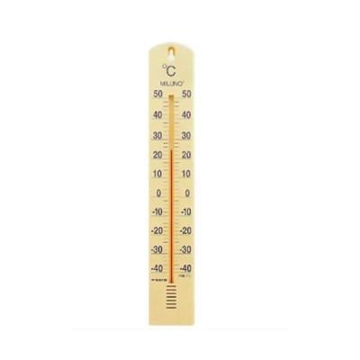 佐藤計量器製作所 大型寒暖計ミルノ イエロー 1517-20 1個