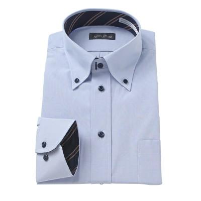 汚れが目立ちにくい首回り調節機能形態安定デザインワイシャツ(ボタンダウン) (ワイシャツ)Shirts,