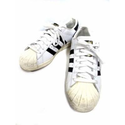 【中古】アディダス adidas スーパースター SS 80s スニーカー 23.0?p 白 ホワイト 黒 ブラック G61070 レディース