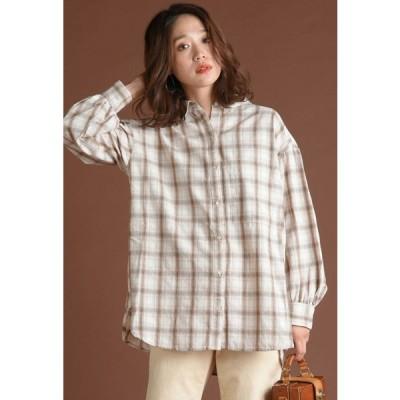 LIPSTAR / ボリュームスリーブチェックシャツ