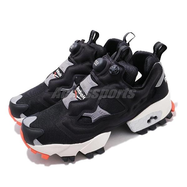 Reebok 休閒鞋 Insta Pump Fury Trail 黑 橘紅 越野大底 男鞋 充氣 【ACS】 FW6017