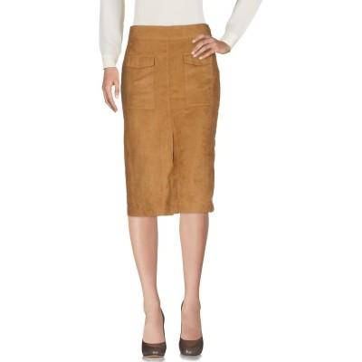 WEILI ZHENG 7分丈スカート キャメル S ポリエステル 100% 7分丈スカート