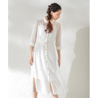 【ラブレス】 WOMEN はっ水シアーシャツドレス レディース オフホワイト 38 LOVELESS
