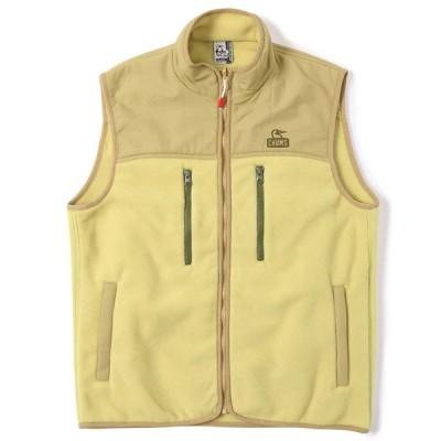チャムス フリース ベスト メンズ チャムリーフリースベスト CH04-1236 Beige CHUMS Chumley Fleece Vest