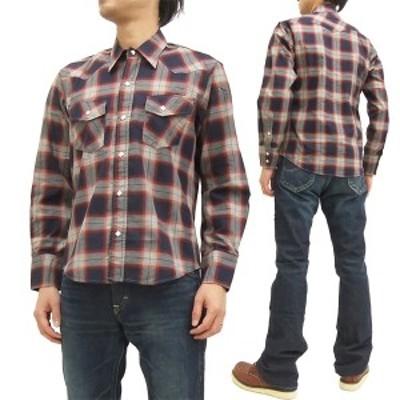 インディアンモーターサイクル ウエスタンシャツ IM27165 東洋エンタープライズ オンブレチェック メンズ 長袖シャツ #165レッド 新品