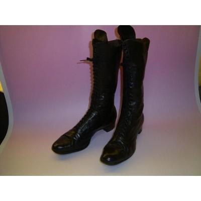 アンティーク スタイリッシュな皮靴(大)H130