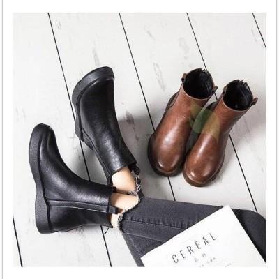 エンジニアブーツ  レディース ウエスタンブーツ ショートブーツ 裏起毛 厚底  ワークブーツ シューズ 革靴