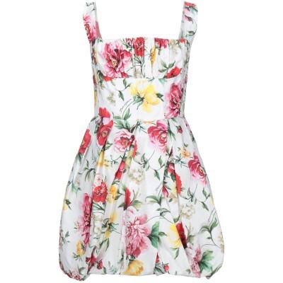 ドルチェ & ガッバーナ DOLCE & GABBANA ミニワンピース&ドレス ホワイト 40 コットン 100% ミニワンピース&ドレス